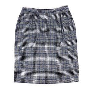 Pendleton 100% Wool Blue Plaid Pencil Skirt Sz 16